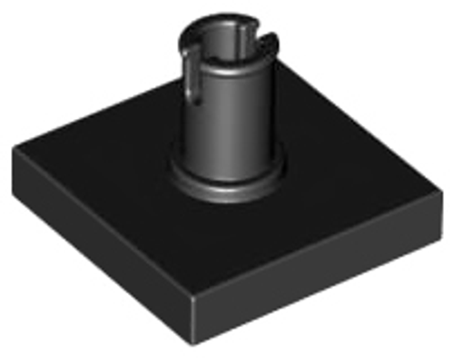 Tile, Modified 2x2 with Pin (Black)