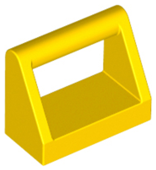 Tile, Modified 1x2 with Handle (Yellow)