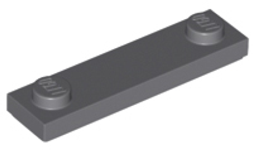 Plate, Modified 1x4 with 2 Studs Without Groove (Dark Bluish Gray)