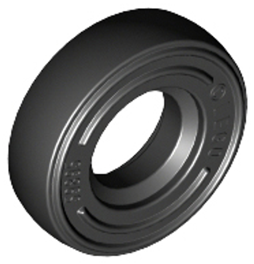 Tyre 14mm D. x 4mm Smooth Small (Black)