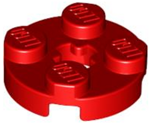 Plate, Round 2x2 with Axle Hole (Red)