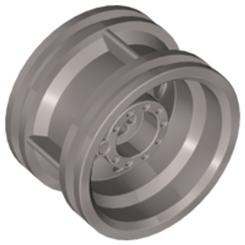 Wheel 30.4mm D. x 20mm with No Pin Holes and Reinforced Rim (Flat Silver)