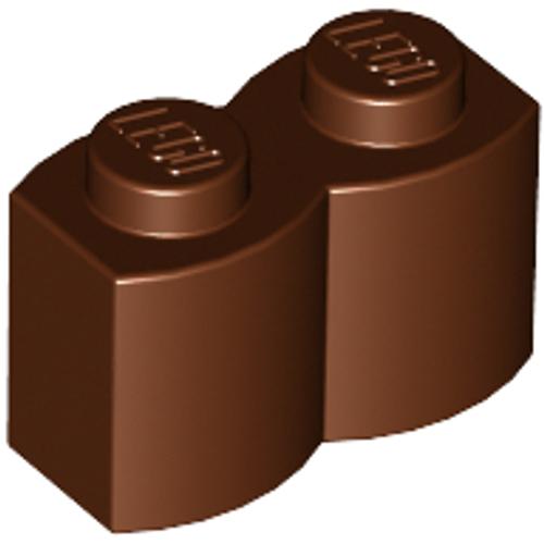 Brick, Modified 1x2 Log Palisade (Reddish Brown)