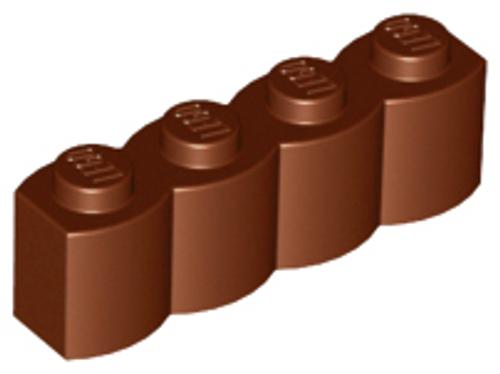 Brick, Modified 1x4 Log (Reddish Brown)