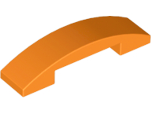 Curved 4x1 Double No Studs (Orange)