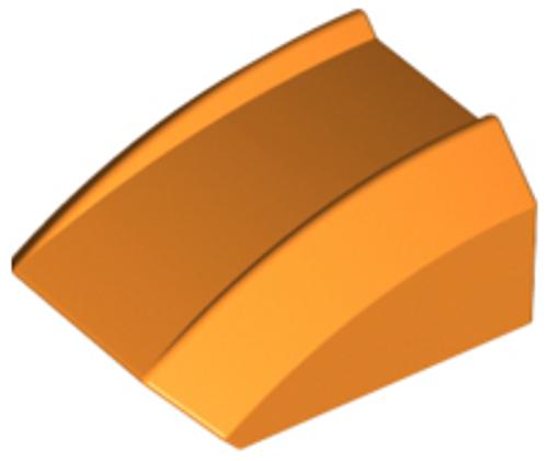 Slope, Curved 2x2 Lip (Orange)