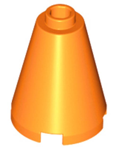 Cone 2x2x2 - Open Stud (Orange)