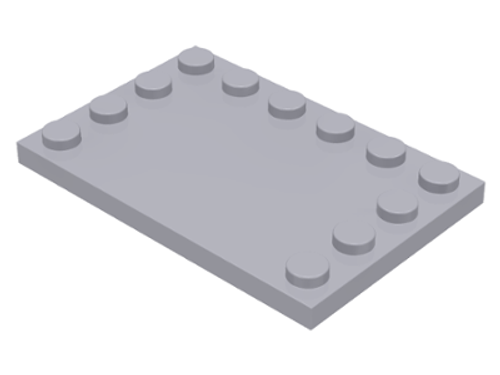 Tile, Modified 4x6 with Studs on Edges (Light Bluish Gray)