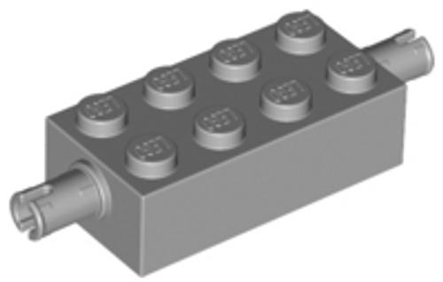 Brick, Modified 2x4 with Pins (Light Bluish Gray)