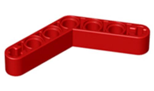 Technic, Liftarm 1x7 Bent (4 - 4) Thick (Red)