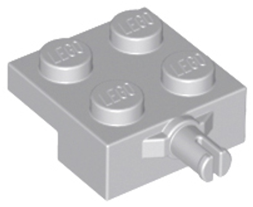 Plate, Modified 2x2 with Wheel Holder (Light Bluish Gray)
