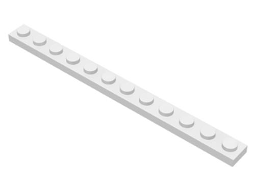 Plate 1x12 (White)