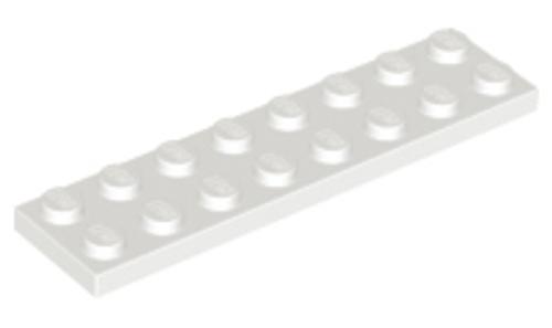Plate 2x8 (White)