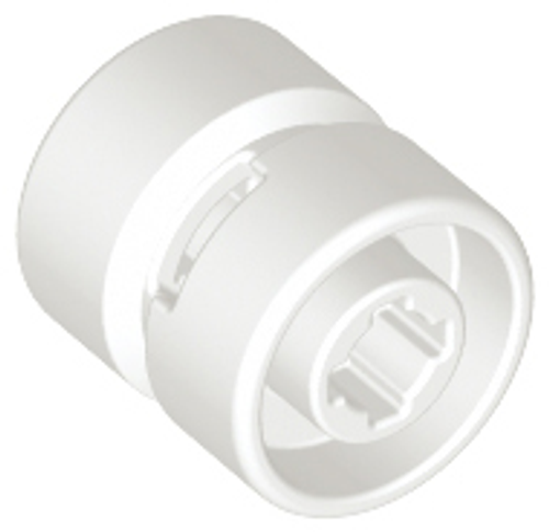 Wheel 11mm D. x 12mm, Hole Notched for Wheels Holder Pin (White)