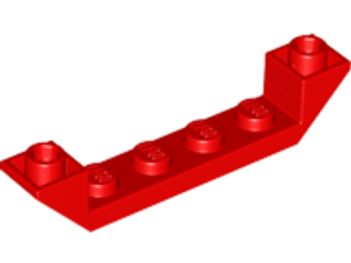 Slope, Inverted 45 6x1 Double with 1 x 4 Cutout (Red)