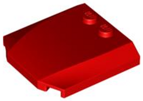 Wedge 4x4x2/3 Triple Curved (Red)