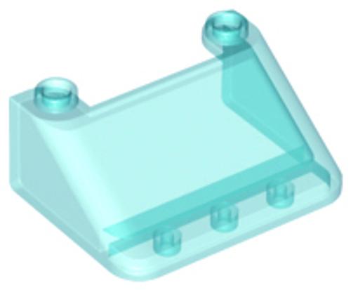 Windscreen 3x4x1 1/3 Large Glass Surface (Trans Light Blue)