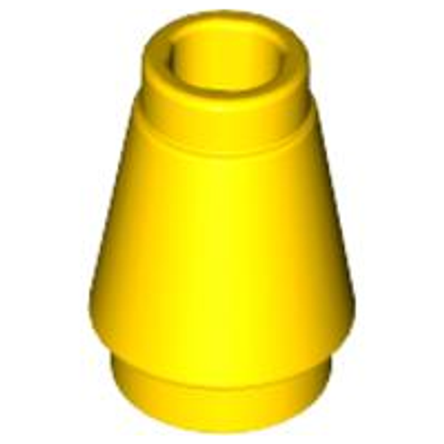 Cone 1x1 with Top Groove (Yellow)