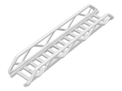 Ladder 16x3.5 with Side Supports (White)