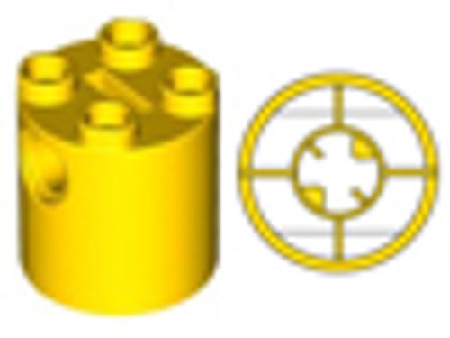 Brick, Round 2x2x2 Robot Body - with Bottom Axle Holder(Yellow)