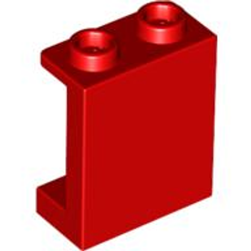 Panel 1x2x2 with Side Supports - Hollow Studs (Red)
