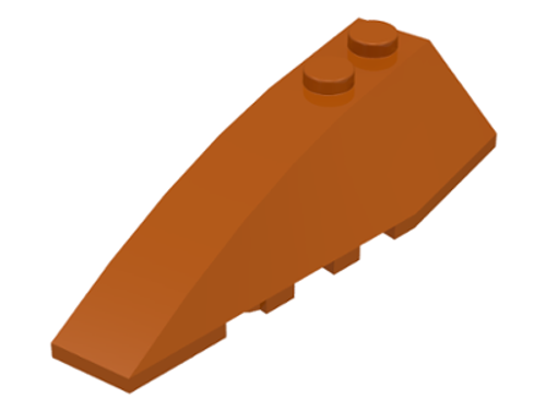 Wedge Brick 6x2 Left (Dark Orange)