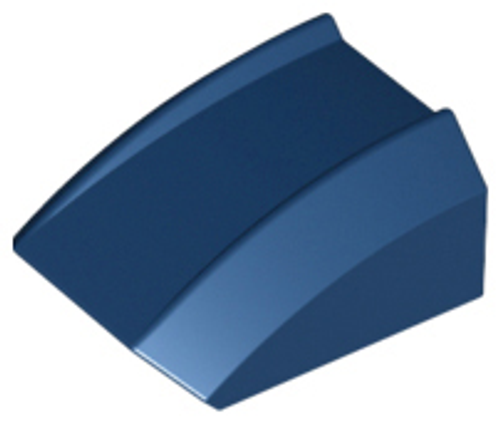 Slope, Curved 2x2 Lip (Dark Blue)