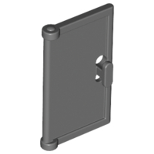 Door 1x2x3 with Vertical Handle, Mould for Tabless Frames (Dark Bluish Gray)