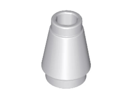 Cone 1x1 with Top Groove (Light Bluish Gray)