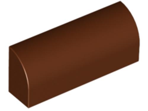 Brick, Modified 1x4x1 1/3 No Studs, Curved Top (Reddish Brown)