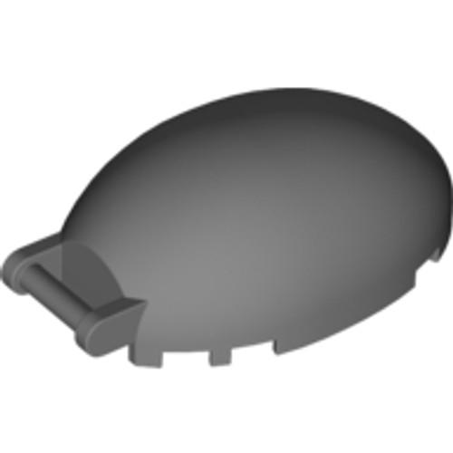 Windscreen 6x4x2 1/3 Bubble Canopy with Handle (Dark Bluish Gray)