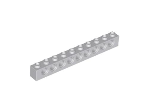Technic, Brick 1x10 with Holes (Light Bluish Gray)