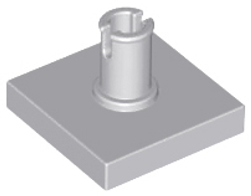 Tile, Modified 2x2 with Pin (Light Bluish Gray)