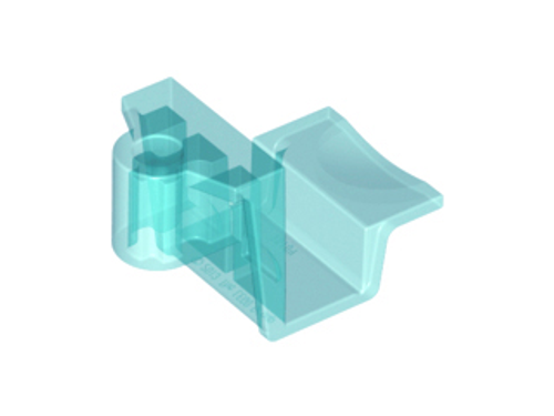 Bracket 4x2x2 No Studs with Axle Hole (Trans Light Blue)