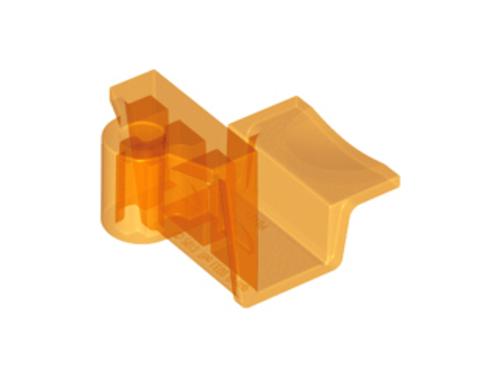 Bracket 4x2x2 No Studs with Axle Hole (Trans Orange) Blue)