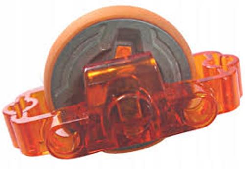 Technic Brick 3x6x2 with Metal Flywheel (Chima Rip Cord Base) (Trans Orange)