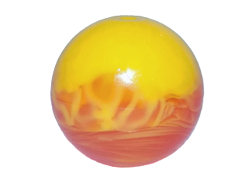 Bionicle Zamor Sphere (Ball) with Marbled Yellow Pattern (Trans Orange)