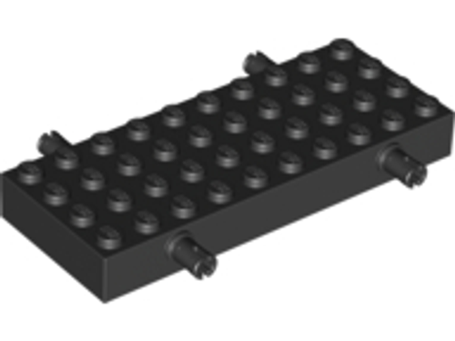 Brick, Modified 4x10 with 4 Pins (Black)