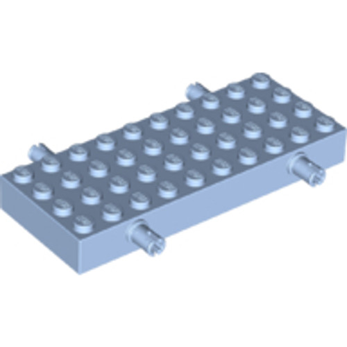 Brick, Modified 4x10 with 4 Pins (Bright Light Blue)