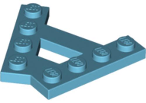 Wedge, Plate A-Shape 2x4 2 Rows of 4 Studs (Medium Azure)