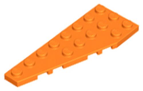 Wedge, Plate 8x3 Left (Orange)