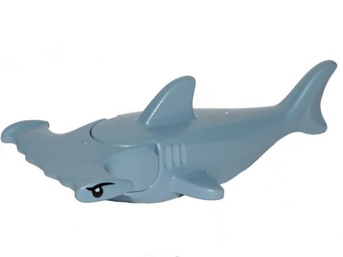 Hammerhead Shark with Gills with Black Eyes (Sand Blue)