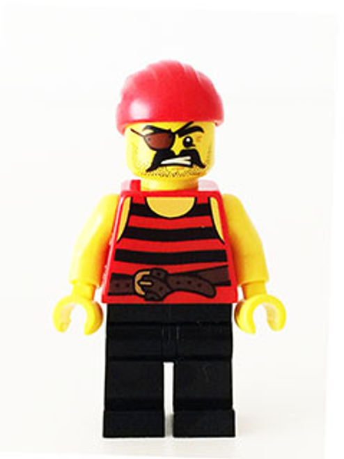 Pirate - Black and Red Stripes, Black Legs, Eyepatch (pi159)