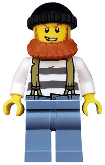 Swamp Police - Crook Male with Black Knit Cap and Dark Orange Beard (cty0513)