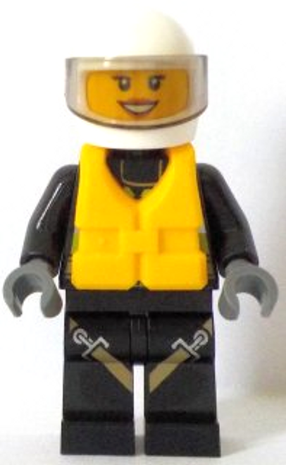 Fire - Reflective Stripes with Utility Belt and Flashlight, Life Jacket Centre Buckle, White Helmet (cty0640)