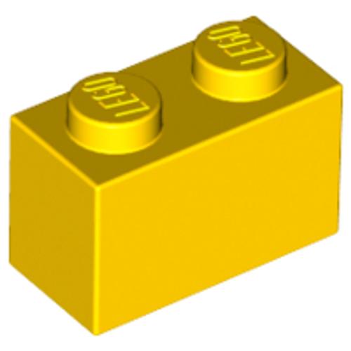 Brick 1x2 (Yellow)