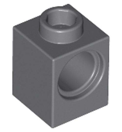 Technic, Brick 1x1 with Hole (Dark Bluish Gray)
