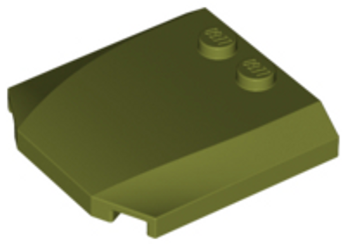 Wedge 4x4x2/3 Triple Curved (Olive Green)