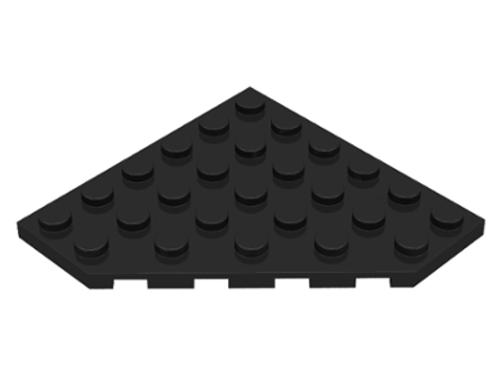 Wedge, Plate 6x6 Cut Corner (Black)