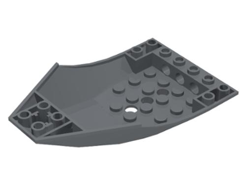 Airplane / Train Cockpit 10x6x2 Curved (Dark Bluish Gray)
